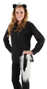 elope Skunk Ears Headband & Tail Kit