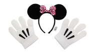 Disney Consumer Products Minnie Ears Pink Bow Headband & Gloves Kit
