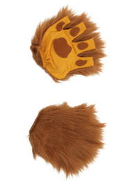 elope Lion Brown Fingerless Paws