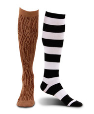 elope Mismatched Pirate Knee-High Socks