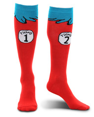 Dr. Seuss Thing 1&2 Costume Socks Adult