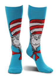 Dr. Seuss The Cat in the Hat Knee High Costume Socks