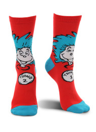 Dr. Seuss Thing 1&2 Costume Crew Socks