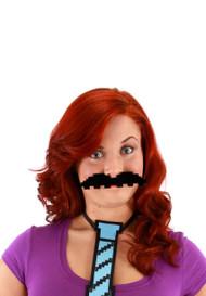 elope Pixel Moustache Set