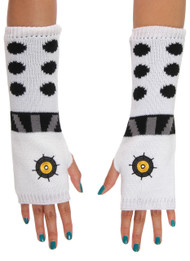 BBC Dalek Knit Arm Warmers White