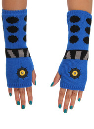 BBC Dalek Knit Arm Warmers Blue