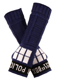 BBC TARDIS Knit Arm Warmers