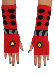 BBC Dalek Knit Arm Warmers Red