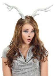 elope Deer Antlers Silver Glitter