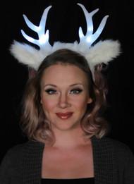 elope Light-Up Deer Antler White LumenHorns Headband