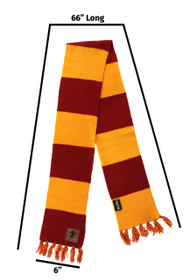 Warner Bros Gryffindor Patch Striped Scarf