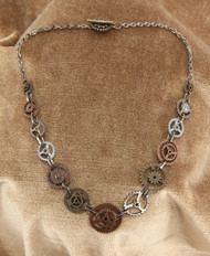 elope Single Chain Gears Necklace
