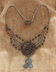 elope Chain Gear Necklace Antique