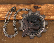 elope Large Gear Propeller Necklace