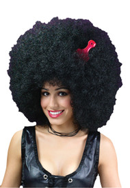 Huge black afro unisex men women adult