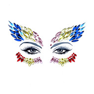 Face Crystals Phoenix Blue/Silver/Red