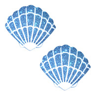Pasties Mermaid Shell Blue