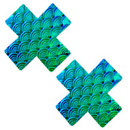 Pasties Mermaid X Blue/Green