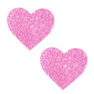 Pasties Heart Pink Glitter