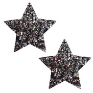 Pasties Dark Star Black Glitter