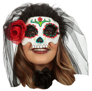 Catrina with Veil: Colored 1 Image