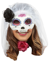 Catrina with Veil: Colored 2 Image