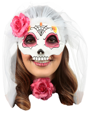 Catrina with Veil: Colored 4 Image