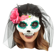 Catrina with Veil: Colored 9 Image