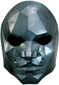 Low Poly Human Face Mask Image