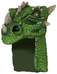 Dragon Helmet Green Image