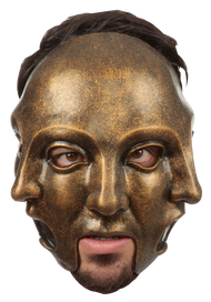 3 Faces Gold Mask Image