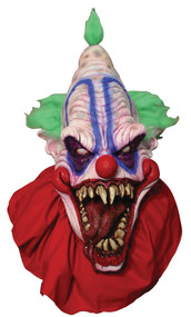 Big Clown Mask with fabric collar