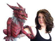 Red Dragon Latex Hand Puppet Prop