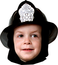 FIRE FIGHTER HELMET CHILD BLK