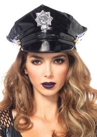 HAT POLICE VINYL BK OS