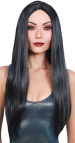WIG LONG STRAIGHT BLACK