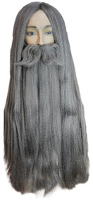 WIZARD WIG BEARD SET GY