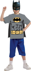 BATMAN CHILD SHIRT MASK CAPE S