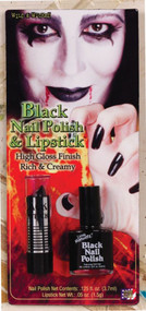 LIPSTICK NAIL POLISH BLACK