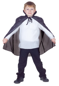 CAPE TAFFETA CHILD BLACK
