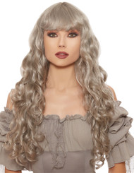 LONG CURLY GRAY WIG