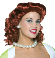 VINTAGE HOUSEWIFE WIG RED