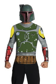 BOBA FETT TOP CAPE MASK ADT LG