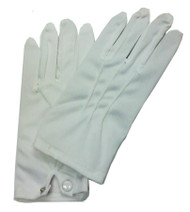 GLOVES THEATRCL W SNAP WHT
