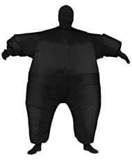 INFLATABLE SKIN SUIT ADULT BLA