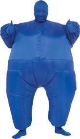INFLATABLE SKIN SUIT ADULT BLU