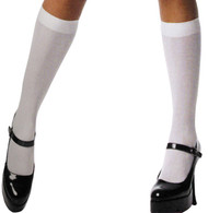 KNEE HIGHS WHITE NYLON