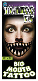 CHESHIRE BIG MOUTH TATTOO