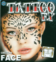 FACE TATTOO CHEETAH FACE
