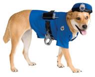 PET POLICE COSTUME LARGE